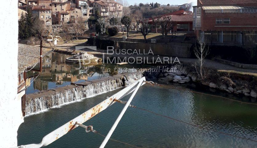 A Gironella venda casa amb vistes al riu, 2 habitacions, garatge i golfes-vistes-vc154