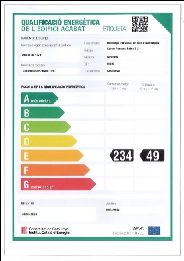 Dúplex en venda al Berguedà, Gironella-certificat energètic-Buscallà Immobiliària