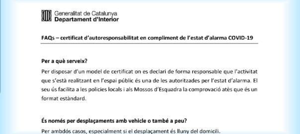FAQS certificat