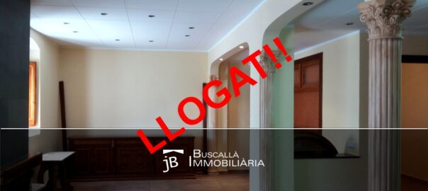 Planta baixa reformada a Cal Rosal-menjador-arcades-mobles Buscallà Immobiliària- LP144