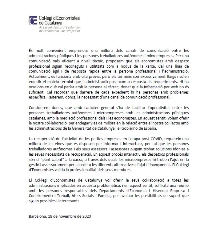 Posicionament del Col·legi d'Economistes de Catalunya- interacció administracions 2