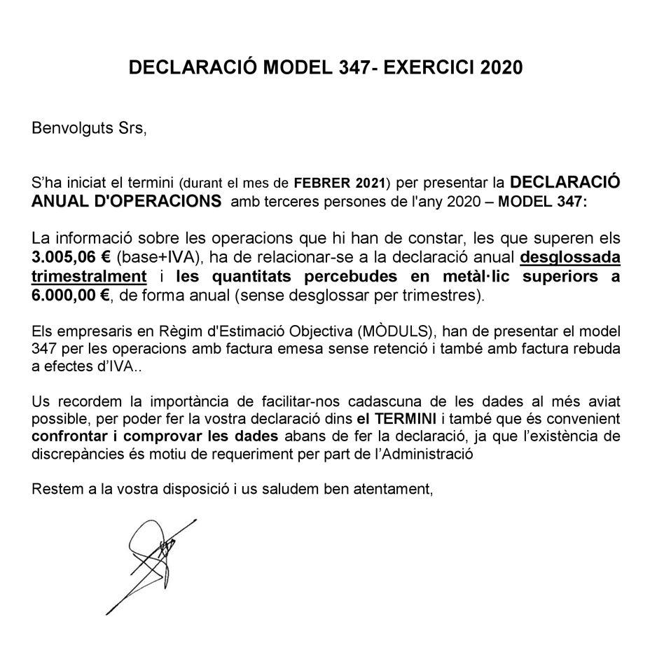carta model 347 2020-2021-Buscallà assessoria al Berguedà