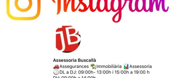 Instagram @buscalla_cat, segueix-nos